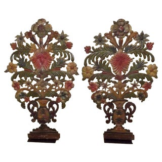 French Mantel Garnitures, Pair For Sale
