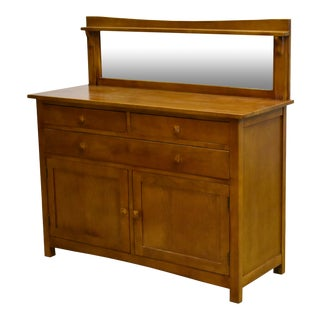 "Crafters and Weavers Mission Buffet Cabinet With Mirror - Michael's Cherry - 50"" For Sale"