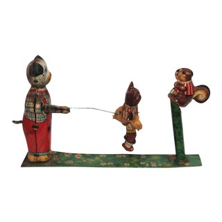 Early 20th Century Early Tin Wind Up Toy For Sale