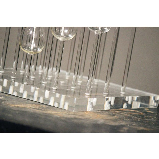 Mid-Century Glass & Lucite Oil Candelabra - Image 3 of 9