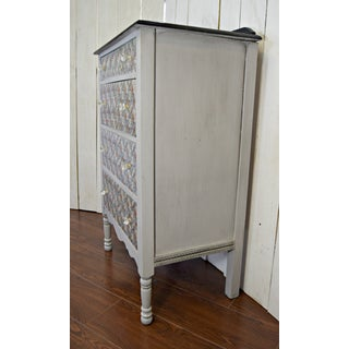 Mid 20th Century Vintage Dresser Painted Gray With Secretary Desk Preview
