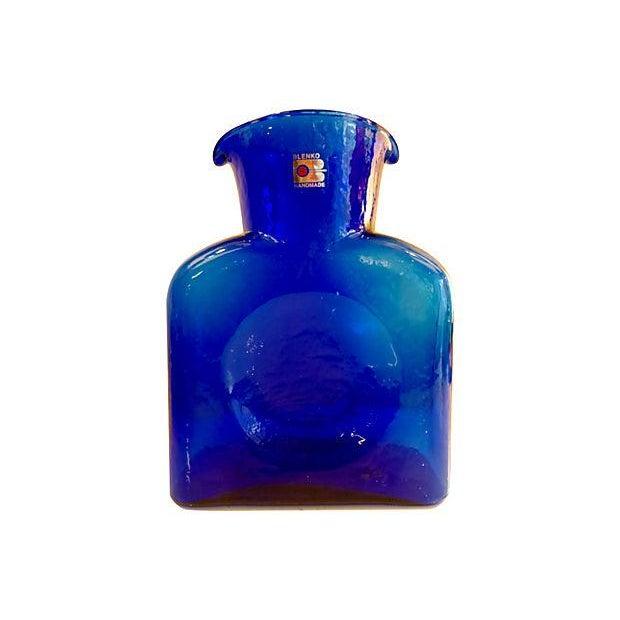 Blenko Cobalt Blue Vase Or Carafe Chairish