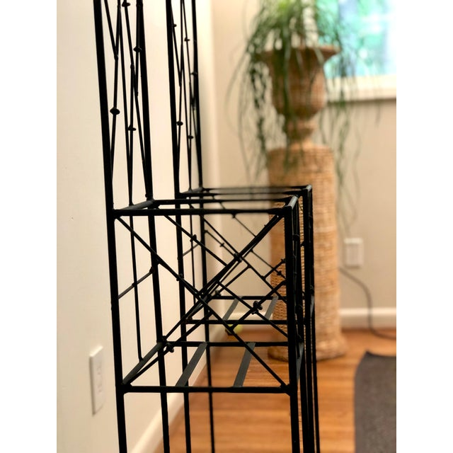 Late 20th Century Iron Trellis Plant Stands - a Pair For Sale - Image 9 of 12