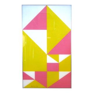 Modern Framed 1960s Lucite Abstract Art For Sale