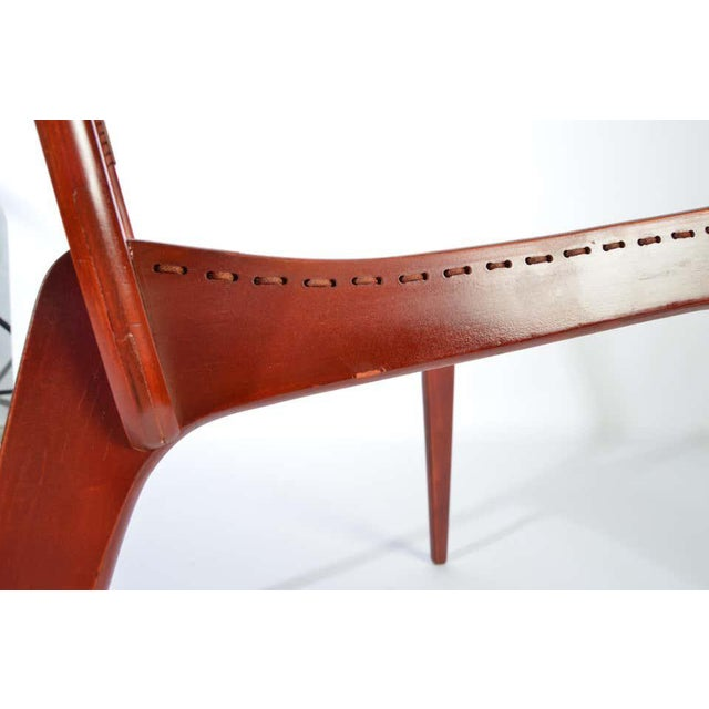 Jacques Guillon Cord Chair For Sale - Image 4 of 8