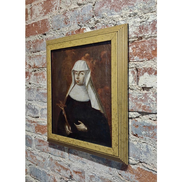 17th Century Italian Old Master -Portrait of a Nun - Oil Painting For Sale In Los Angeles - Image 6 of 8