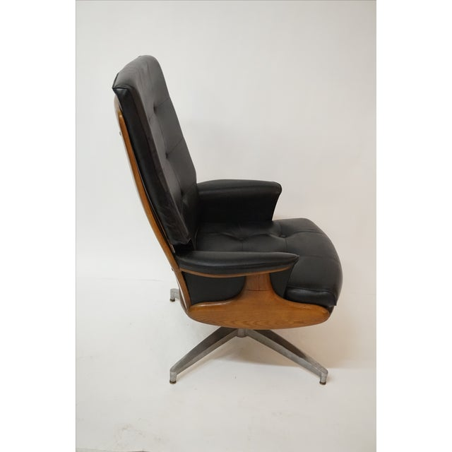 Heywood-Wakefield Lounger & Ottoman - Image 5 of 7