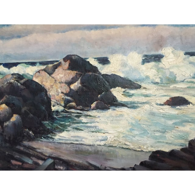 Vintage California Seascape by Greenwood - Image 4 of 7