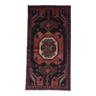 1970s Vintage Hand-Knotted Red Wool Rug - 3′7″ × 6′11″ For Sale