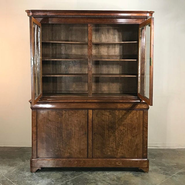 Gold Mid-19th Century Louis Philippe Mahogany Bookcase For Sale - Image 8 of 11