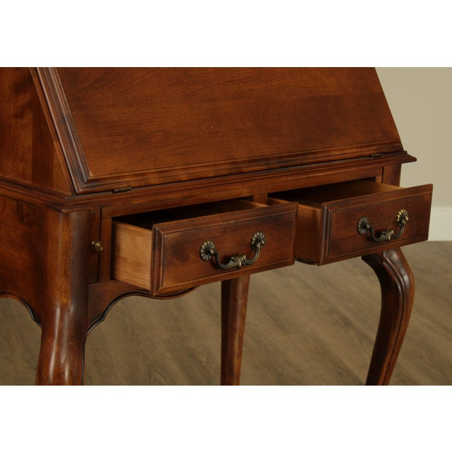 Wood Ethan Allen Country French Slant Front Writing Desk For Sale - Image 7 of 13