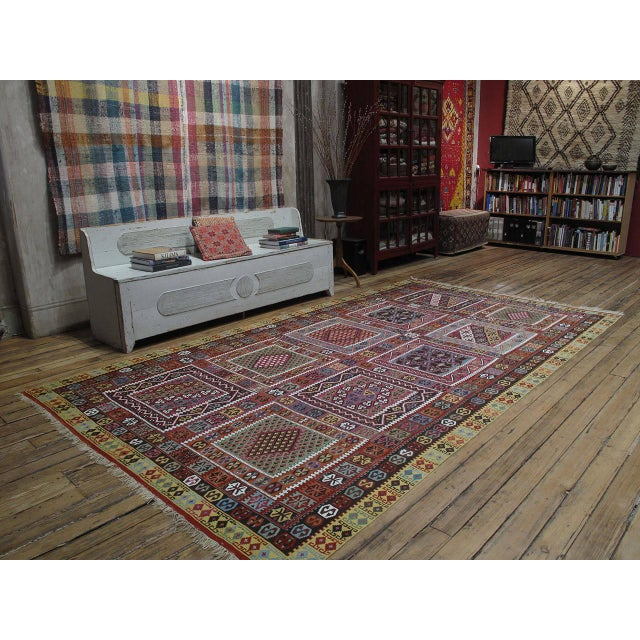 A great antique Kilim from Northeastern Turkey with dazzling natural colors and in excellent state of preservation. One of...