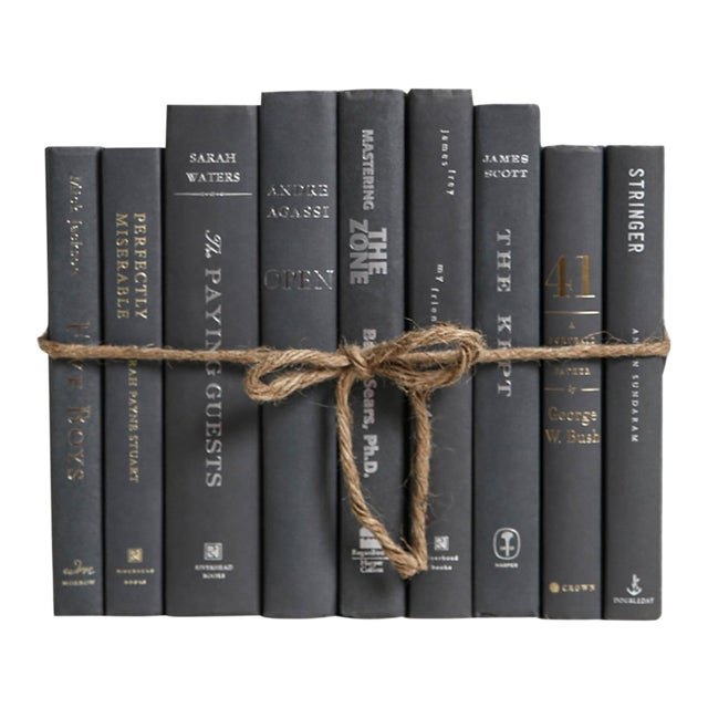 Modern Slate Colorpak : Decorative Books in Shades of Dark Grey For Sale