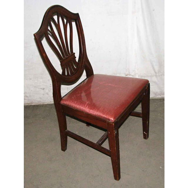 Red Classic Mahogany Dining Chairs - Set of 6 For Sale - Image 8 of 12