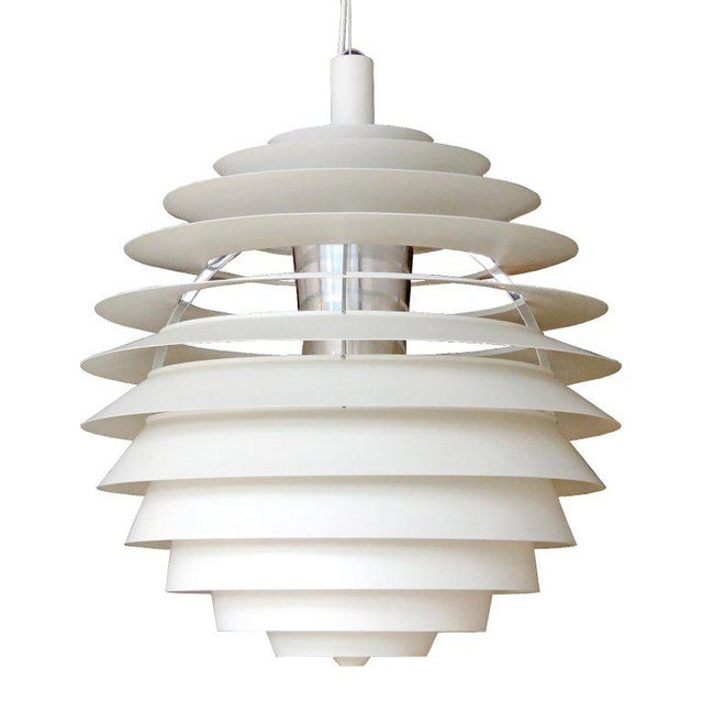 1960s Poul Henningsen Ph Louvre Pendant Light For Sale - Image 11 of 11