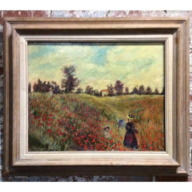 Antique Framed Impressionism Signed Painting For Sale - Image 4 of 11
