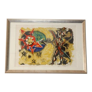 Signed and Numbered Etching by Jean LurçAt For Sale