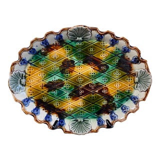 Late 19th Century French Majolica Platter For Sale