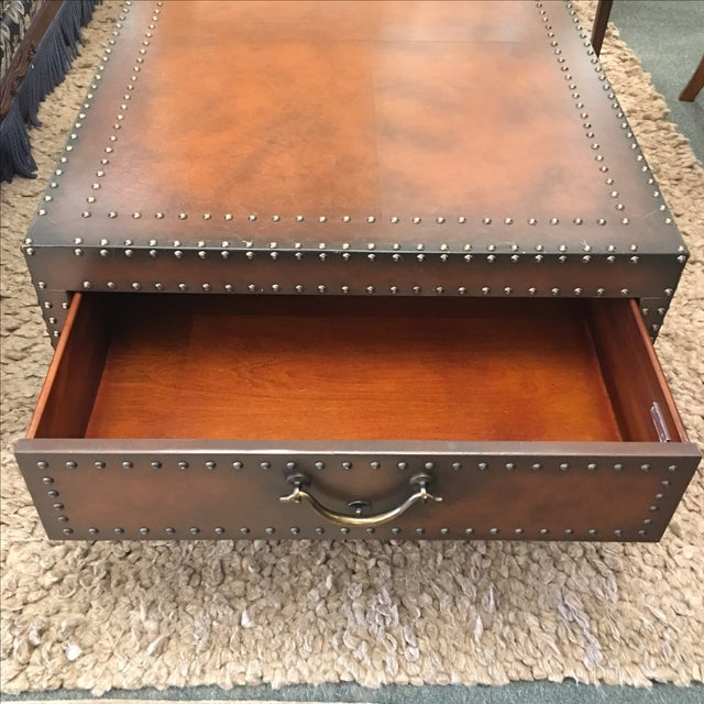 Brown Ralph Lauren Dalton Leather Cocktail Table For Sale - Image 8 of 11