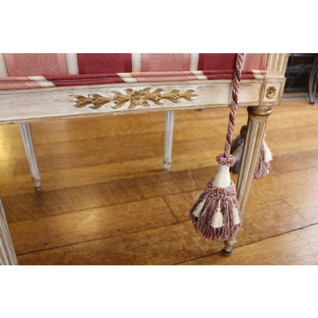 1900s Triple Lyre Back Settee For Sale In Raleigh - Image 6 of 8