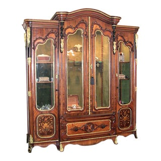 19c French Neo-Classical Revival Style Vitrine - Imposing Piece For Sale