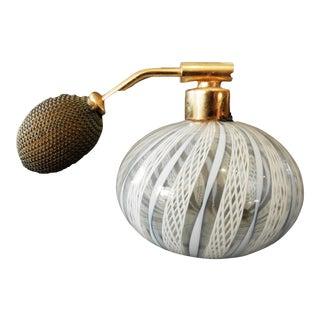 Murano Latticino Glass Perfume Bottle For Sale