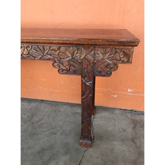 Brown Chinese Carved Altar Table For Sale - Image 8 of 10