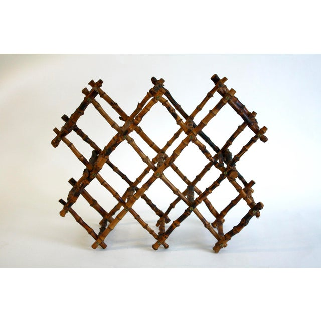 Vintage French Bamboo Wine Rack - Image 3 of 6