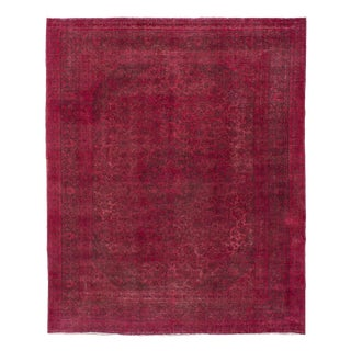 Persian Overdyed Rug - 9′9″ × 11′11″