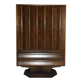 1970s Mid-Century Modern Walnut Highboy For Sale