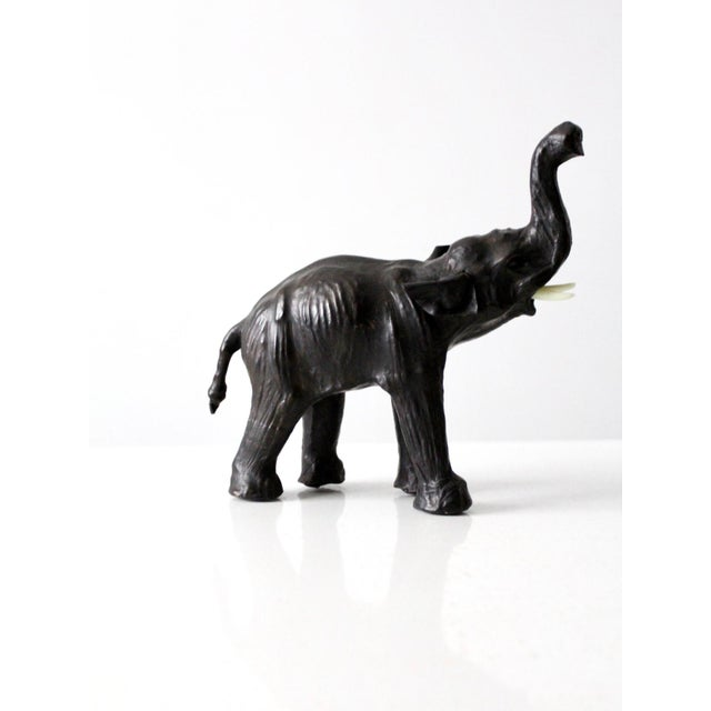Early 20th Century Vintage Leather Elephant Figure For Sale - Image 5 of 10