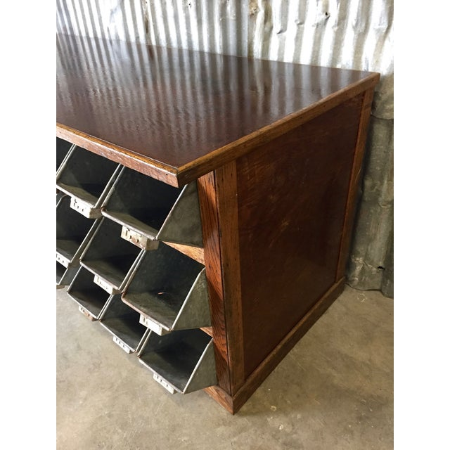 Antique 1940s Hardware Store Counter For Sale - Image 5 of 11