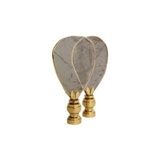 Gold Gilded Quartz Lamp Finials - a Pair For Sale