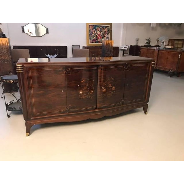Art Deco Jules Leleu Style French Art Deco Four Door Buffet For Sale - Image 3 of 10