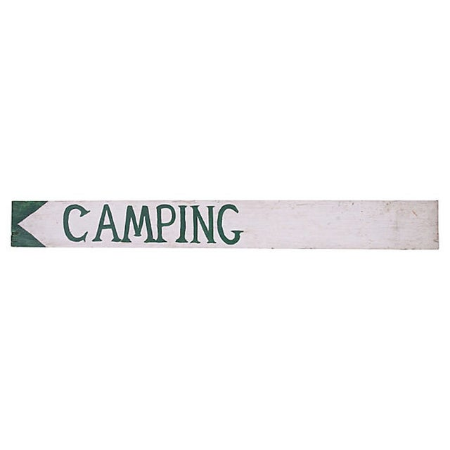 Vintage Camping Sign For Sale - Image 4 of 4