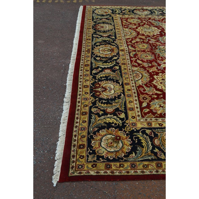 Persian Isfahan 12x16 Hand Knotted Persian Rug For Sale - Image 3 of 10