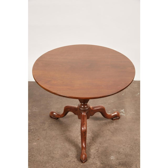 19th Century Queen Anne English Mahogany Pedestal Table For Sale - Image 4 of 7