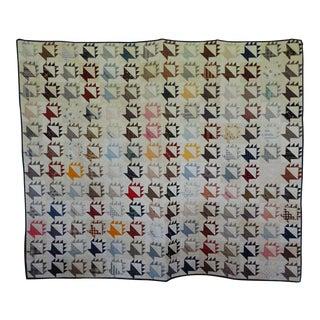 Antique Folk Art Quilt For Sale