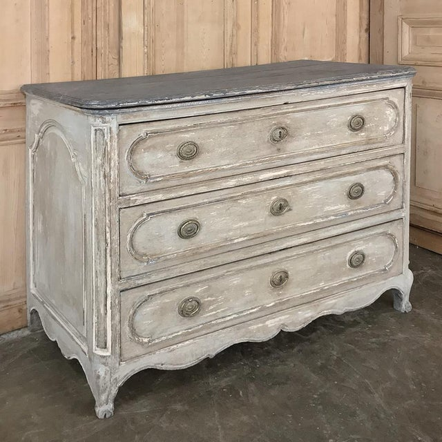 Louis XV 18th Century Country French Painted Commode For Sale - Image 3 of 13