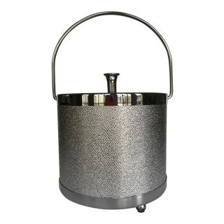 Mid-Century Aluminum Ice Bucket For Sale