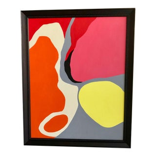 2010s Organic Abstract Acrylic Painting