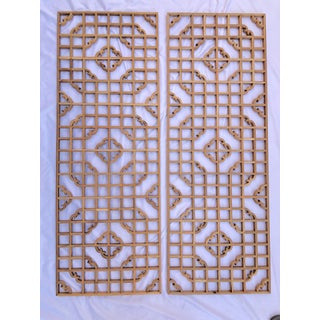 Vintage Chinese Window Screens - a Pair Preview