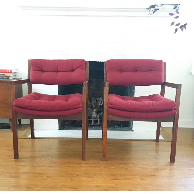 Mid-Century Side / Accent Chairs - Pair - Image 2 of 11