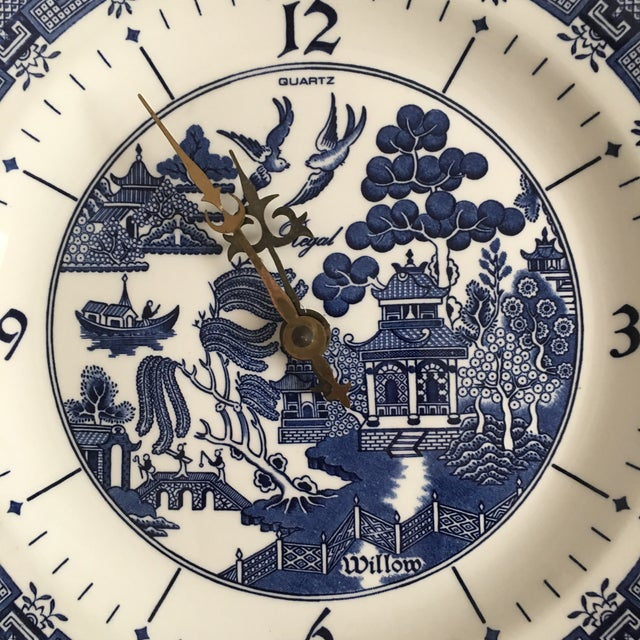 Vintage fine ceramic clock plate made in England by Churchill (stamped on back) believed circa 1990's. Features the iconic...