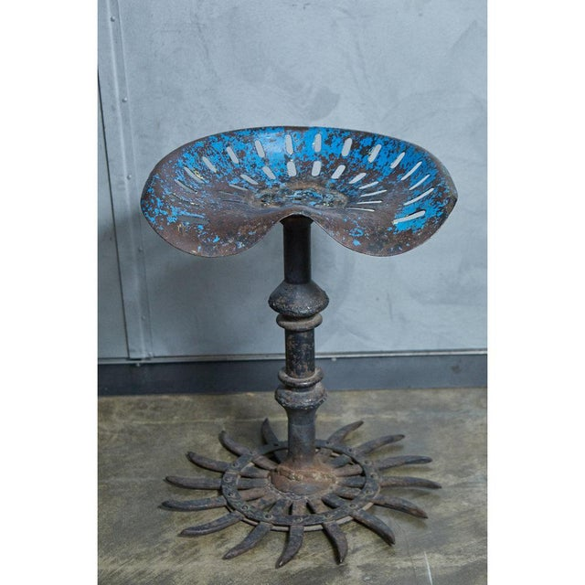 Folk Art Table and Stool Set For Sale - Image 9 of 10