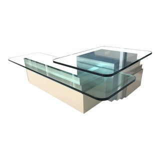 2 Levels Architectural Coffee Table For Sale