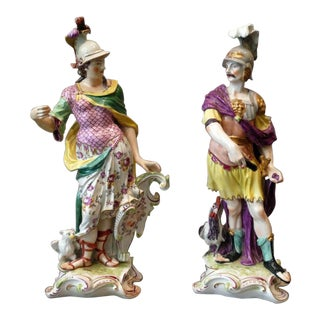 Chelsie Porcelains Figures - a Pair For Sale