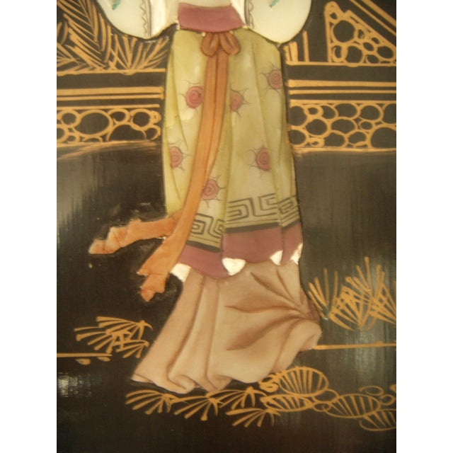 """""""Courtesans in the Garden"""" Wall Hangings (Four) - Image 7 of 8"""