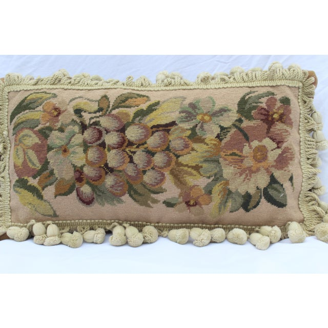 19th Century Needle Point Down Lumbar Pillow For Sale In San Diego - Image 6 of 9