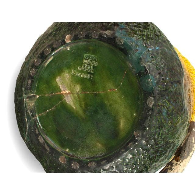 Ceramic English Victorian 'Majolica' Porcelain Basket Form Jardinière For Sale - Image 7 of 9